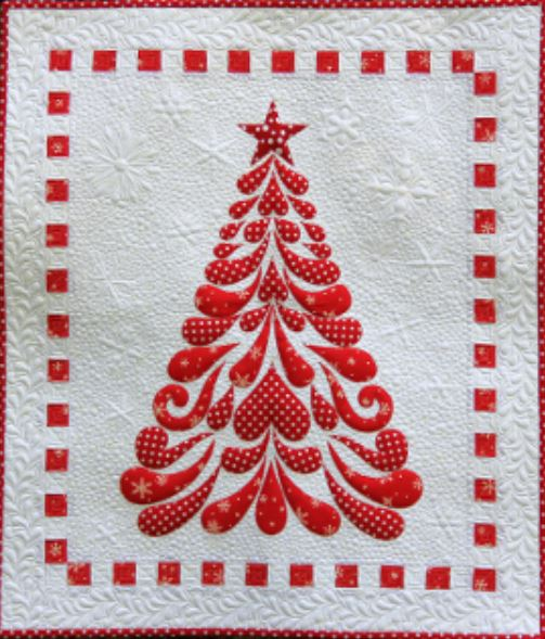 9537cherryblossomsquiltingredchristmastreequiltpatternjpg Quilt Patterns Applique Tree